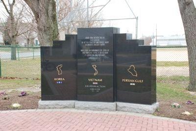Korean • Vietnam • Persian Gulf War Monument image. Click for full size.
