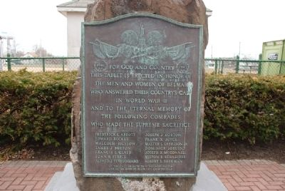 Belmar World War II Monument image. Click for full size.