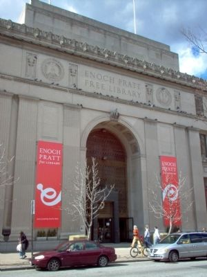 Main entrance of the Enoch Pratt Free Library image. Click for full size.
