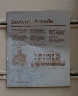 Brown's Arcade Marker image. Click for full size.