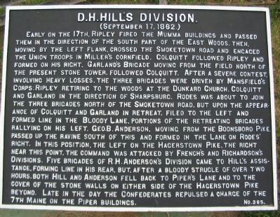 D.H. Hill's Division Marker image. Click for full size.
