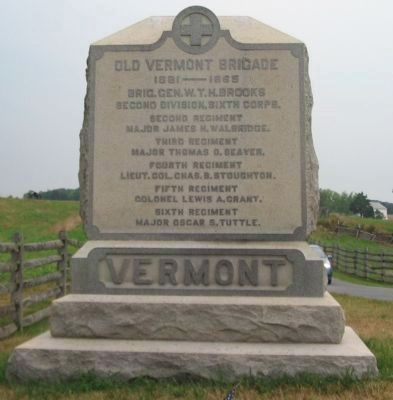 Old Vermont Brigade Monument image. Click for full size.