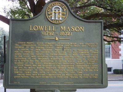Lowell Mason 1792- 1872 Marker image. Click for full size.