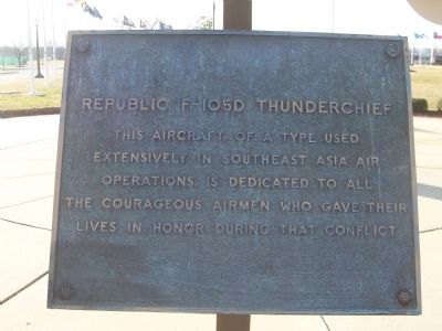 Republic F-105D - Plaque No. 1 image. Click for full size.