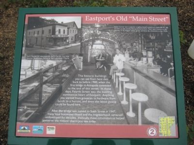 "Eastport's Old ""Main Street"" Marker image. Click for full size."
