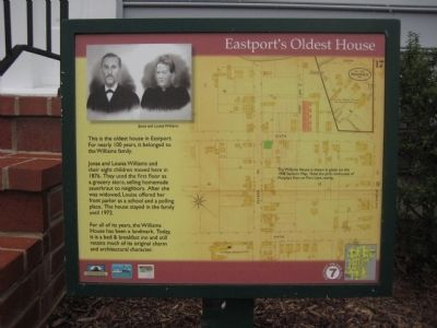 Eastport's Oldest House Marker image. Click for full size.