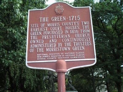 The Green - 1715 marker image. Click for full size.