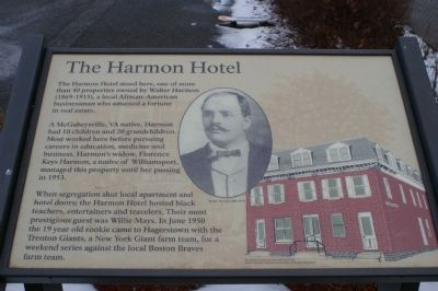 The Harmon Hotel Marker image. Click for full size.