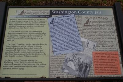 Fugitive Slaves Detained at the County Jail Marker image. Click for full size.