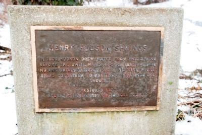 Henry Hudson Springs Historic Plaque image. Click for full size.