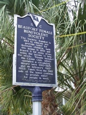 Beaufort Female Benevolent Society Marker image. Click for full size.