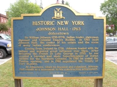 Johnson Hall Marker image. Click for full size.