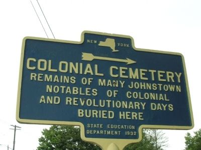 Colonial Cemetery Marker image. Click for full size.