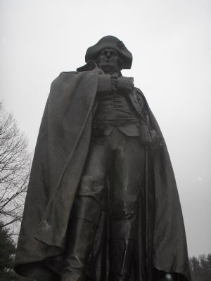 Closeup of von Steuben statue image. Click for full size.