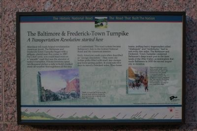 The Baltimore & Frederick-Town Turnpike Marker image. Click for full size.