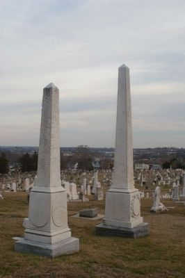 Graves of Robert Strawbridge, Francis Asbury, and Enoch George image. Click for full size.