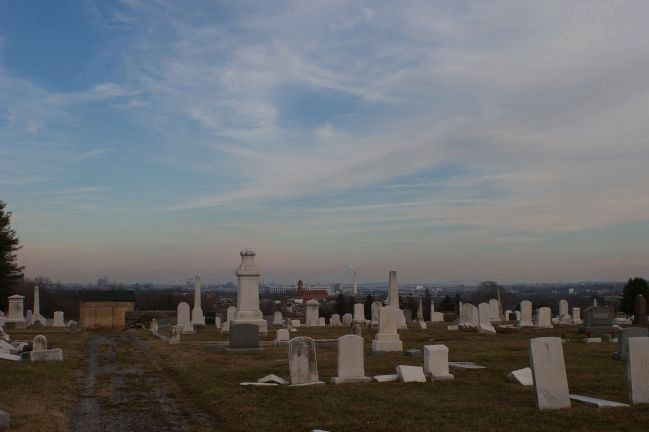 Baltimore as seen from Mt. Olivet Cemetery image. Click for full size.