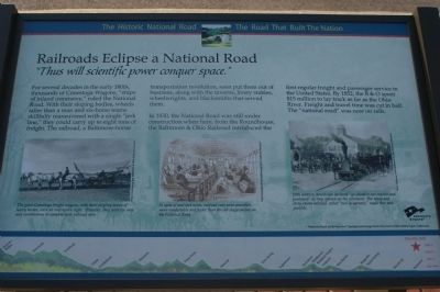 Railroads Eclipse a National Road Marker image. Click for full size.