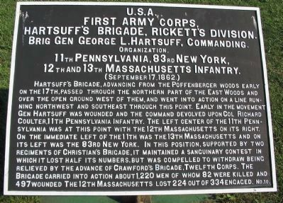 Hartsuff's Brigade Tablet image. Click for full size.