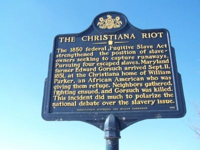 The Christiana Riot Marker image. Click for full size.