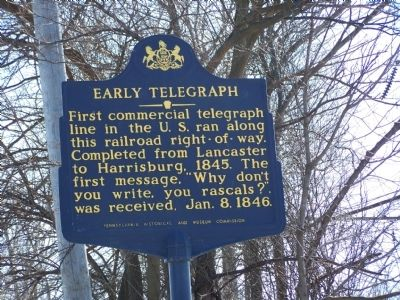 Early Telegraph Marker image. Click for full size.