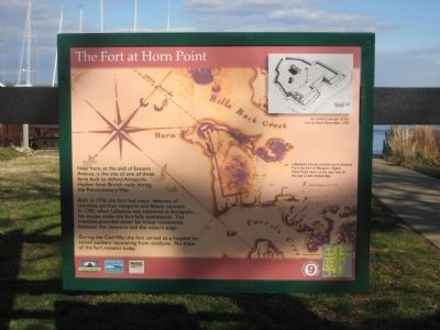 The Fort at Horn Point Marker image. Click for full size.