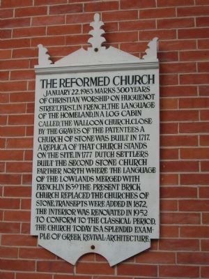 Sign on the front of the Reformed Church image. Click for full size.