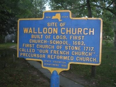 Walloon Church Marker image. Click for full size.