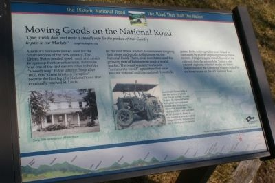 Moving Goods on the National Road Marker image. Click for full size.
