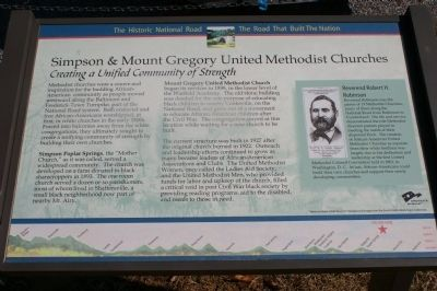 Simpson & Mount Gregory United Methodist Churches Marker image. Click for full size.