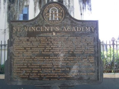 St. Vincent`s Academy Marker image. Click for full size.