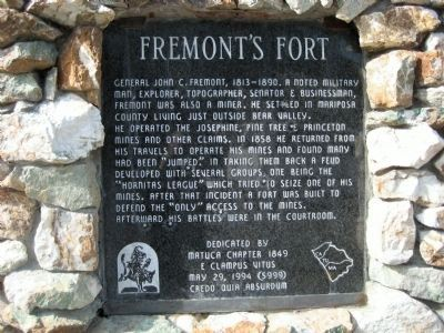 Fremont's Fort Marker image. Click for full size.