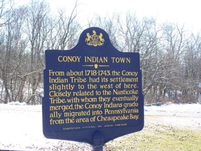 Conoy Indian Town Marker image. Click for full size.