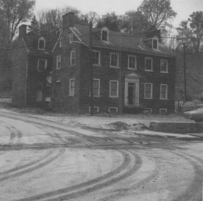 George Ellicott House before move and flood damage image. Click for full size.