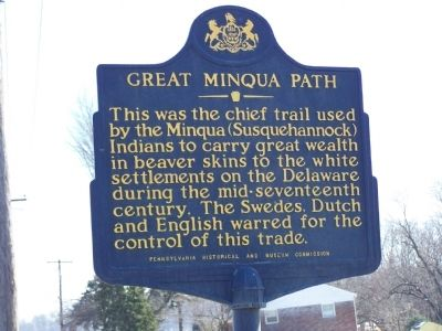 Great Minqua Path Marker image. Click for full size.