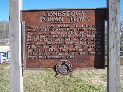Conestoga Indian Town Marker image. Click for full size.