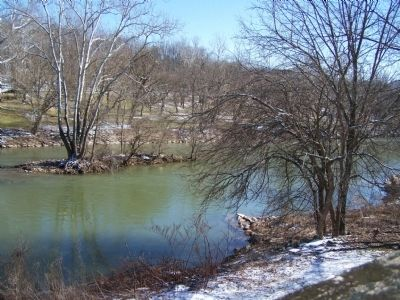 Conestoga River at marker. image. Click for full size.