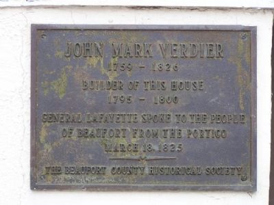 Verdier House Marker image. Click for full size.