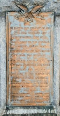Monument Dedication Plaque image. Click for full size.