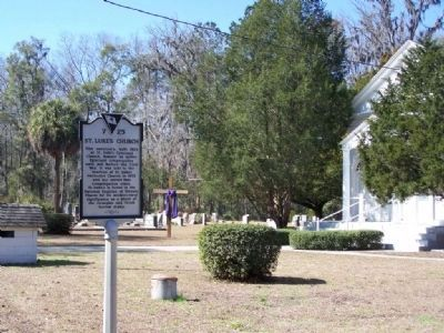 St. Luke's Church and Marker image. Click for full size.