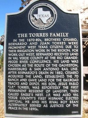 The Torres Family Marker image. Click for full size.