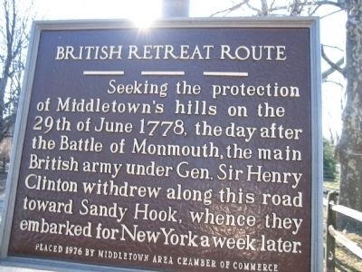 British Retreat Route Marker image. Click for full size.