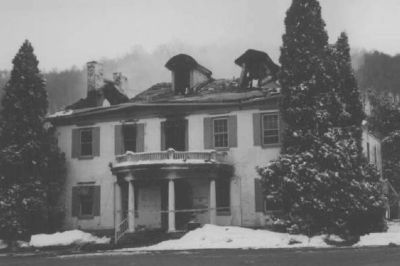 The Clarysville Inn after the fire of March 10, 1999 image. Click for full size.