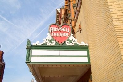 Russell Theater markee image. Click for full size.