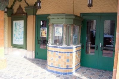 Russell Theater ticket booth image. Click for full size.