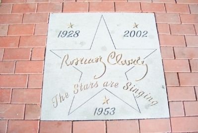 """Rosie"" Clooney also known as ""The Girl Singer..."" Star in front of Russell Theater image. Click for full size."