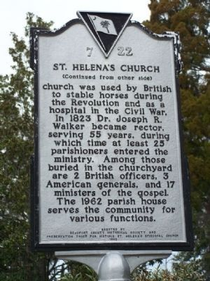 St. Helena&#39;s Church Marker </b>(reverse) image. Click for full size.