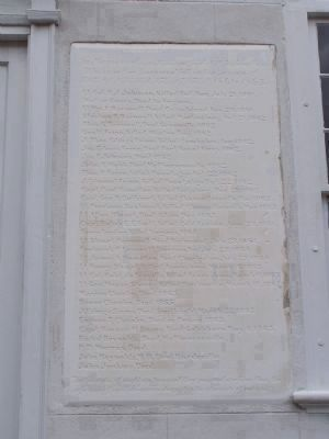 Etched Tablet in the South Wall Of the Church image. Click for full size.