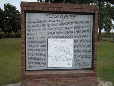 Battle of Averasboro Phase Two Marker image. Click for full size.