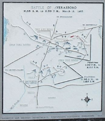 Battle of Averasboro Phase 2 Battle Map image. Click for full size.